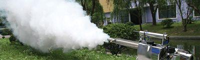 Генератор горячего тумана на участке